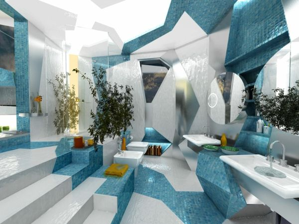 modernes badezimmer ideen futurischtisch Badezimmer Ideen - badezimmer deko türkis