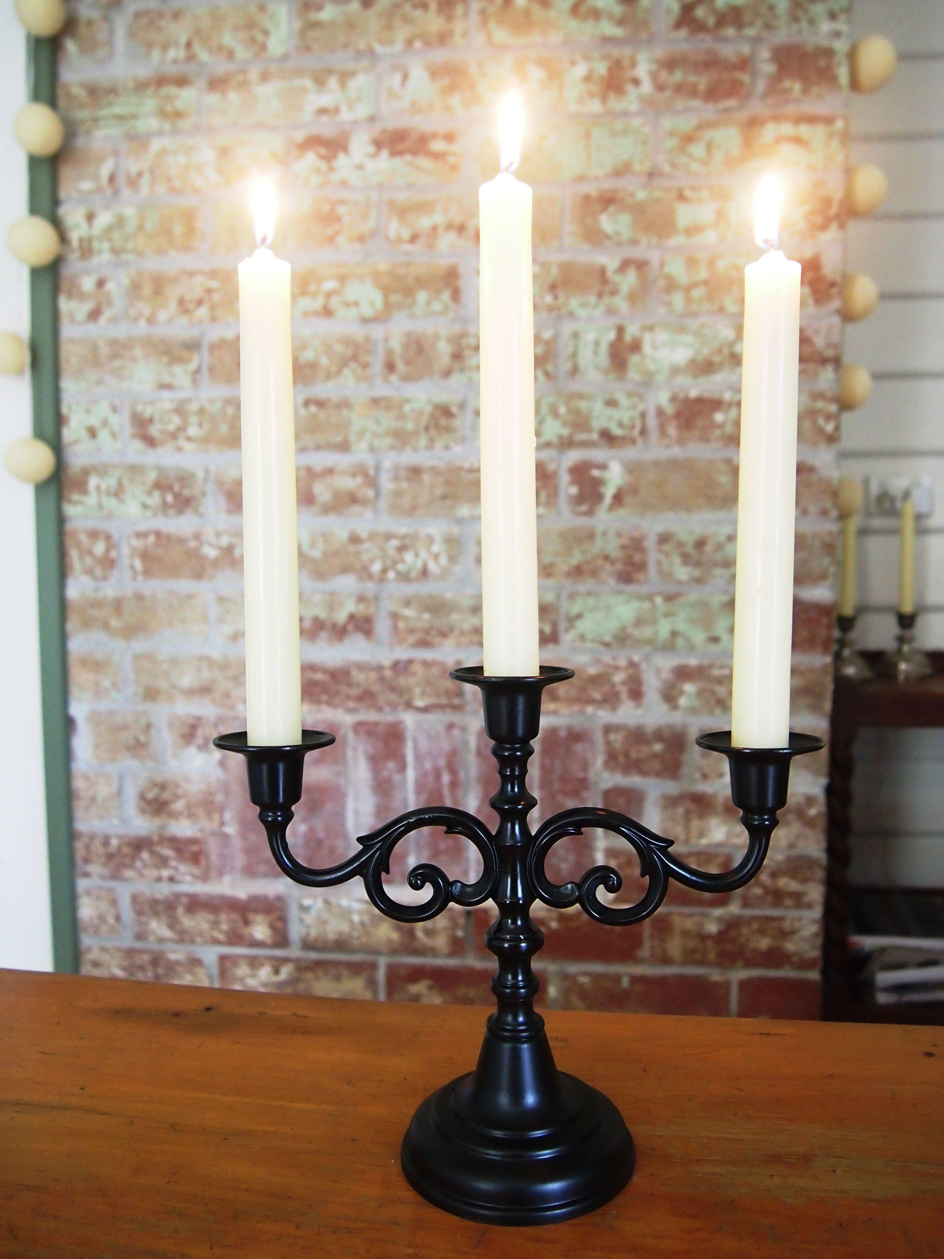 Spray paint candelabra casa decoraçãoideias pinterest