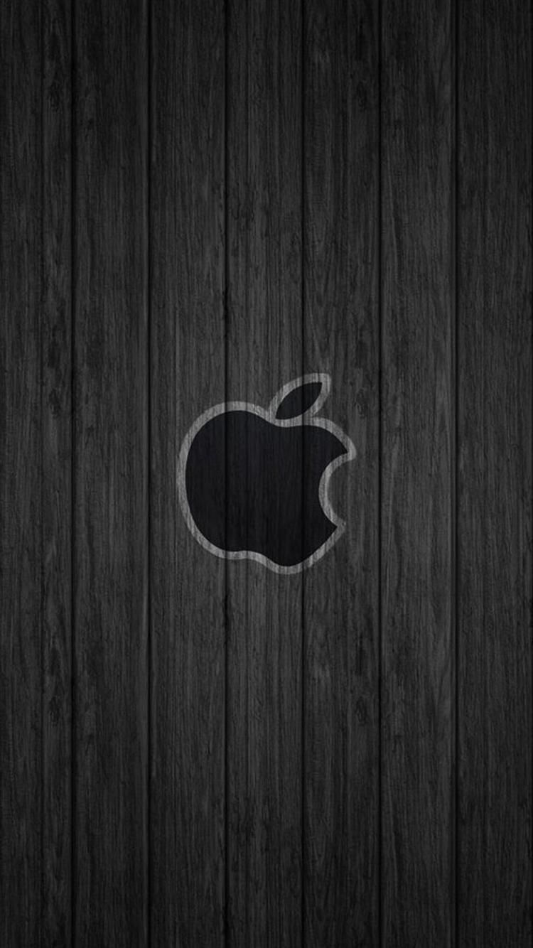 Black Apple Wood Iphone 6 Wallpapers