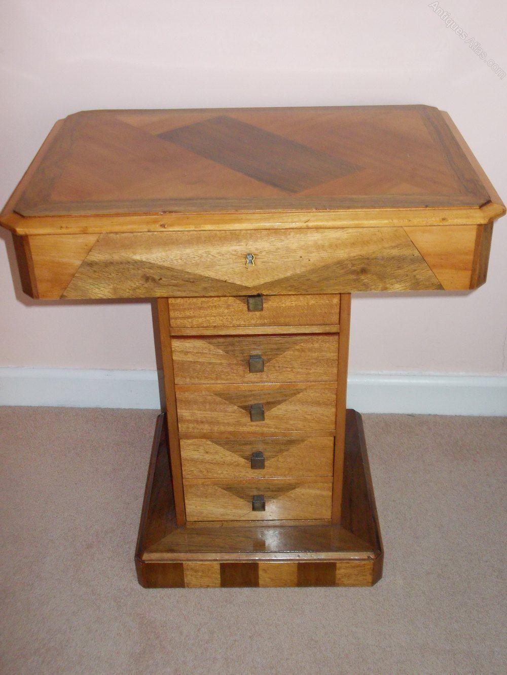 Art Deco Vanity Sewing Table