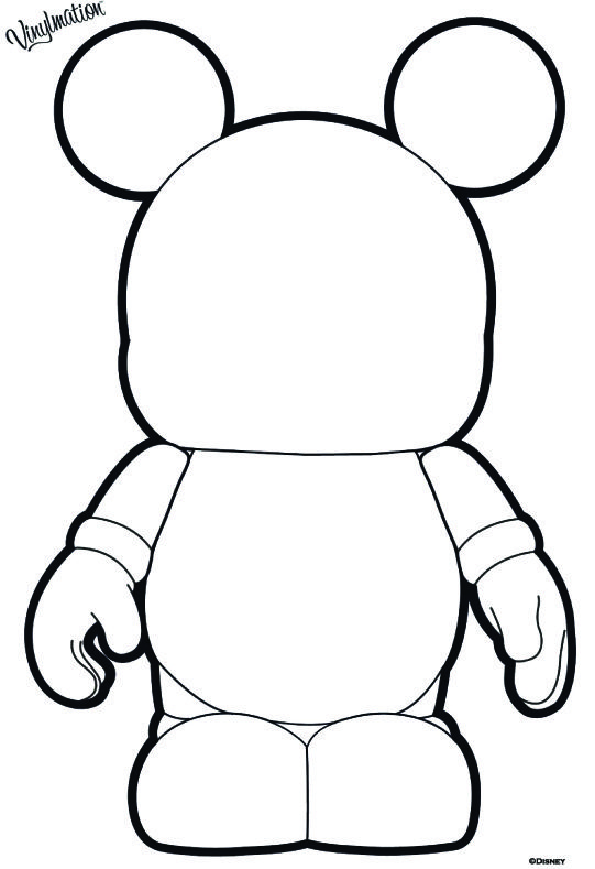 Disney Vinylmation Blank And Bows Short Film Printable Coloring Page