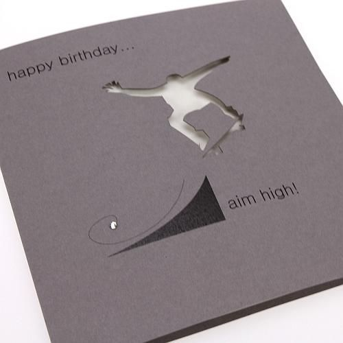 Handmade skateboard birthday card happy birthday aim high buy handmade skateboard birthday card happy birthday aim high buy here m4hsunfo