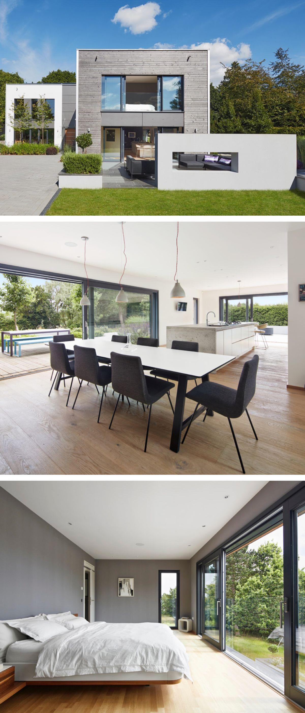 Einfamilienhaus modern mit Galerie und Flachdach-Architektur ...
