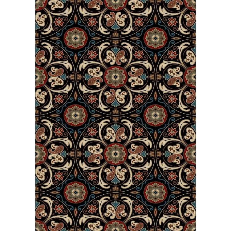 Concord Global Verona Suzani 9023 Black Area Rug