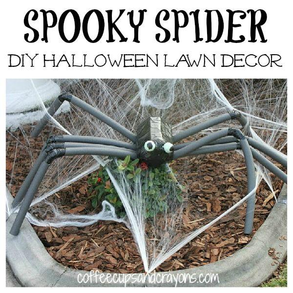 DIY Spooky Spider Lawn Decor Halloween,fun and Spider