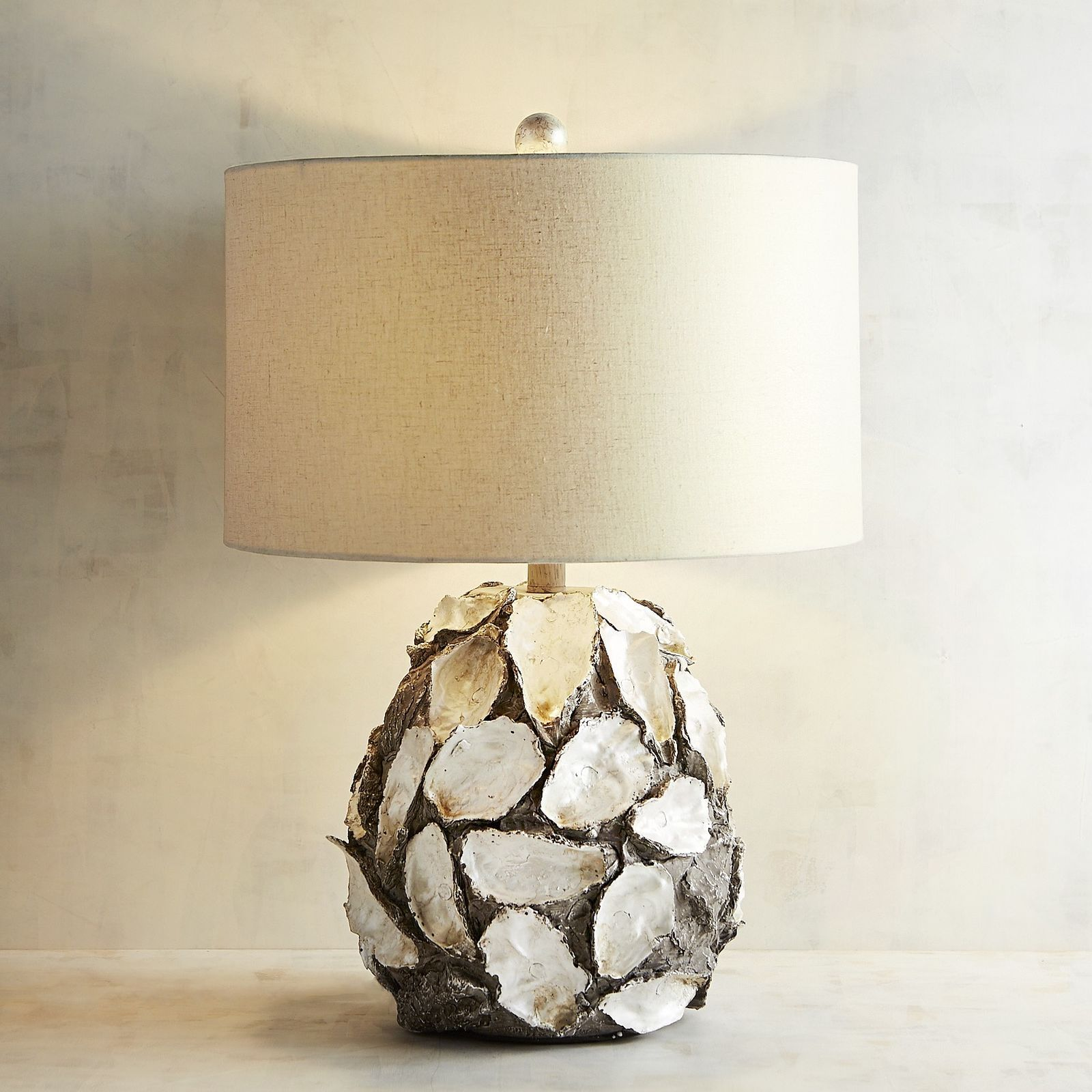 Our Faux Oyster Shell Table Lamp Brings The Ocean S Artistic Bounty