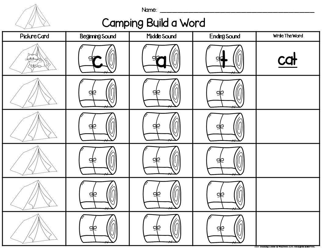 Camping Build A Cvc Word