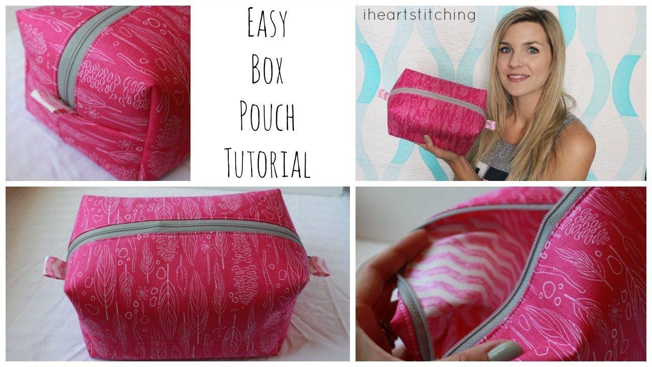 Easy Beginner Friendly Box Pouch Tutorial. Melanie Ham