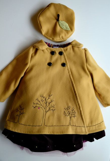 Elegance & Elephants: Apple of My Eye, embroidered girls coat and hat