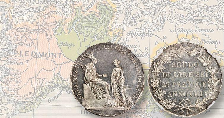 Cisalpine Republic silver coin marks restoration after