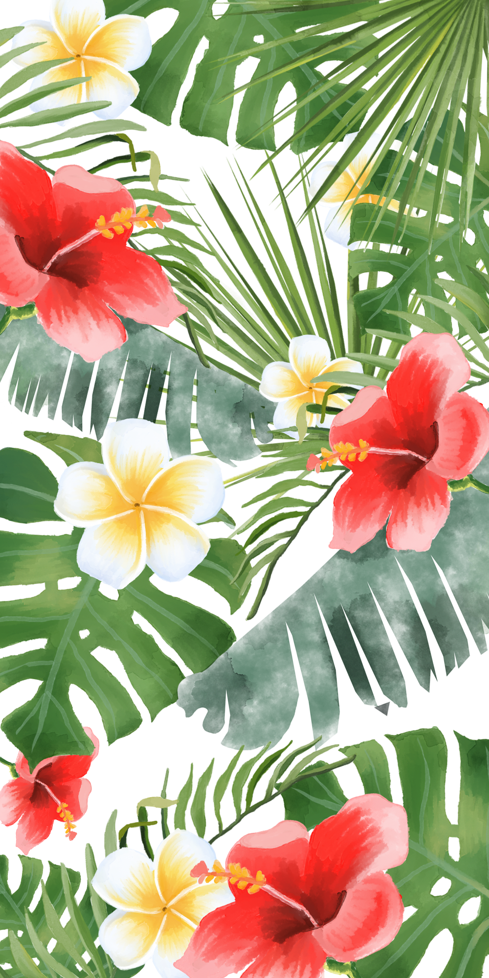If You Re Into Tropical Vibes Casetify Iphone Flowers Floral Beautiful Color Insp Iphone Wallpaper Tropical Drawing Wallpaper Floral Wallpaper Iphone