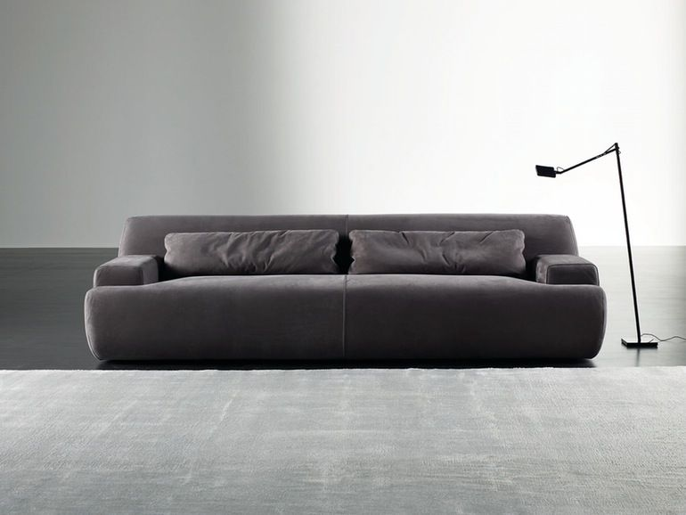 Norton Contemporary Leather Upholstery Fabric Sofa By Meridiani Sofa Sofa Design Contemporary Sofa