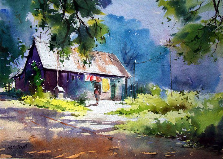 Abstract Watercolor Paintings Others Landscape Painting Abstract