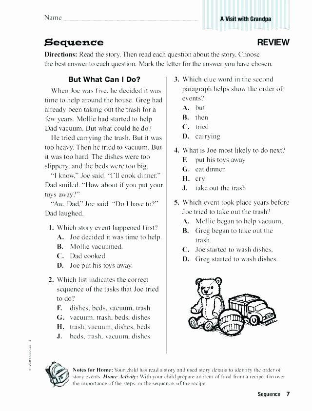 2nd Grade Sequencing Worksheets Chronological order ...