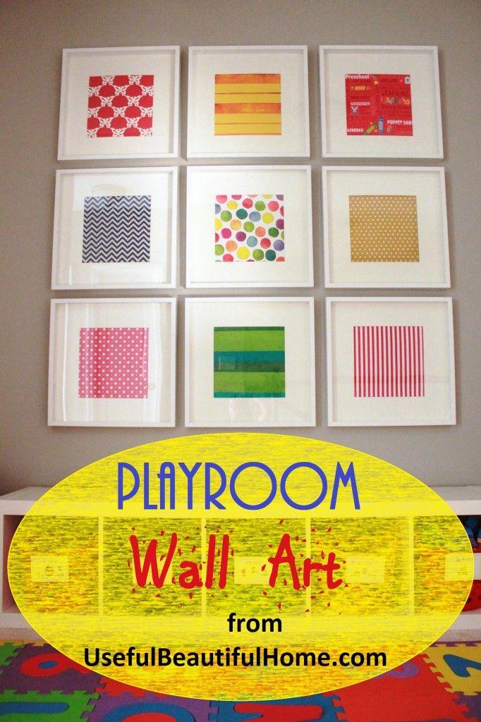 Playroom Wall Art from UsefulBeautifulHome   Decor ~ Frames ...