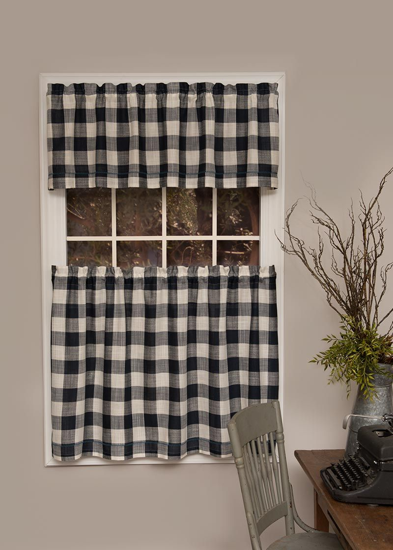 Wake Up Your Windows With The Buffalo Check Valance Tier Buffalo Check Curtains Check Curtains Curtains