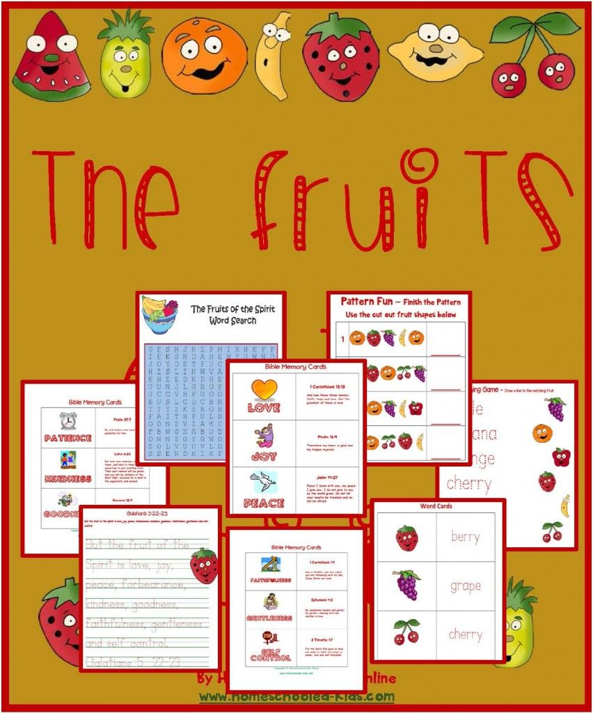 The fruits of the spirit printable pack galatians 5 22 for Fruit of the spirit goodness craft
