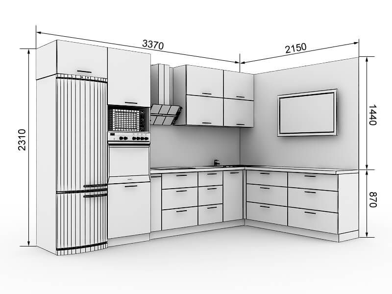 Useful Kitchen Dimensions And Layout - Engineering