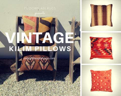 Floorplan Rugs Vintage Kilim Pillows
