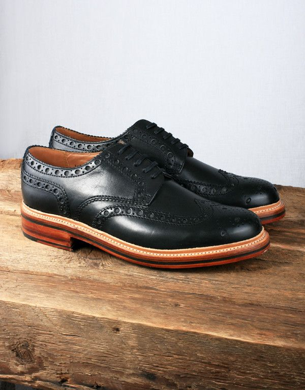 a5b7723a297d Grenson Archie Brogue with Goodyear Welted Sole - Black Calf