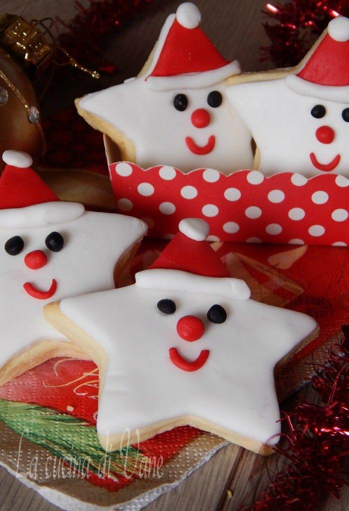 Dolci Stelle Di Natale.Biscotti Di Natale Decorati Stelle Babbo Natale Biscotti