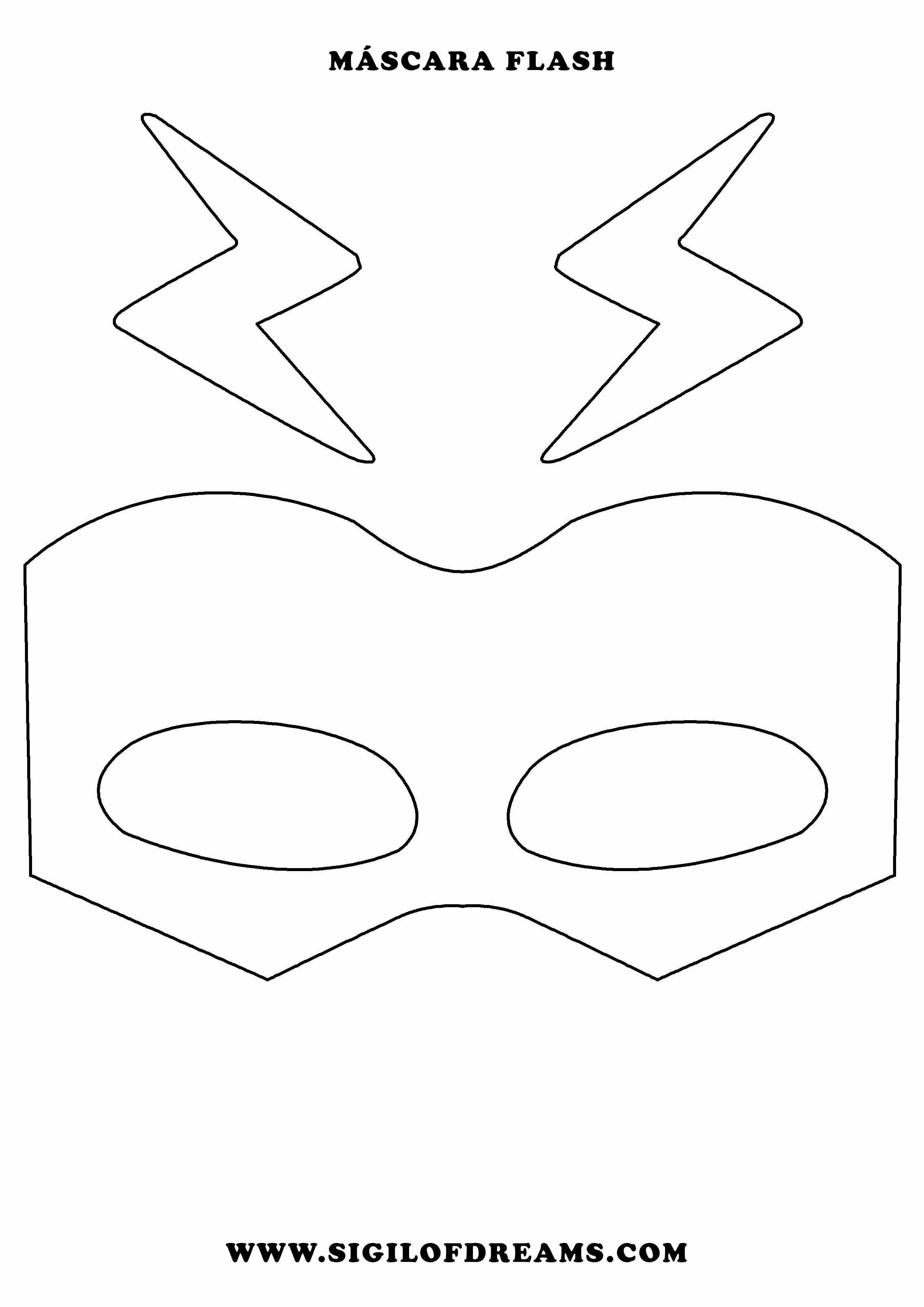 Superhero Mask Template For Kids Unique Mascara De Flash Para