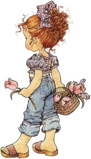 Reminds me of my youngest granddaugter, Ashlyn.  Little miss gardener.....she waters the flowers on the deck.