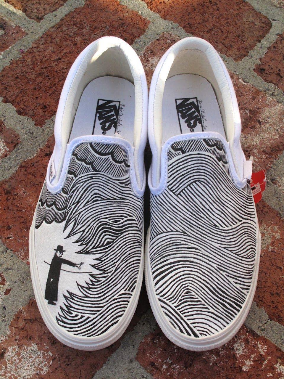 22a60b28ffe Thom Yorke Eraser vans Painted Vans