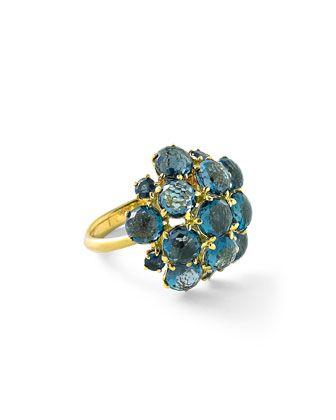 Lollipop London Blue Topaz Bubble Ring by Ippolita at Bergdorf Goodman.