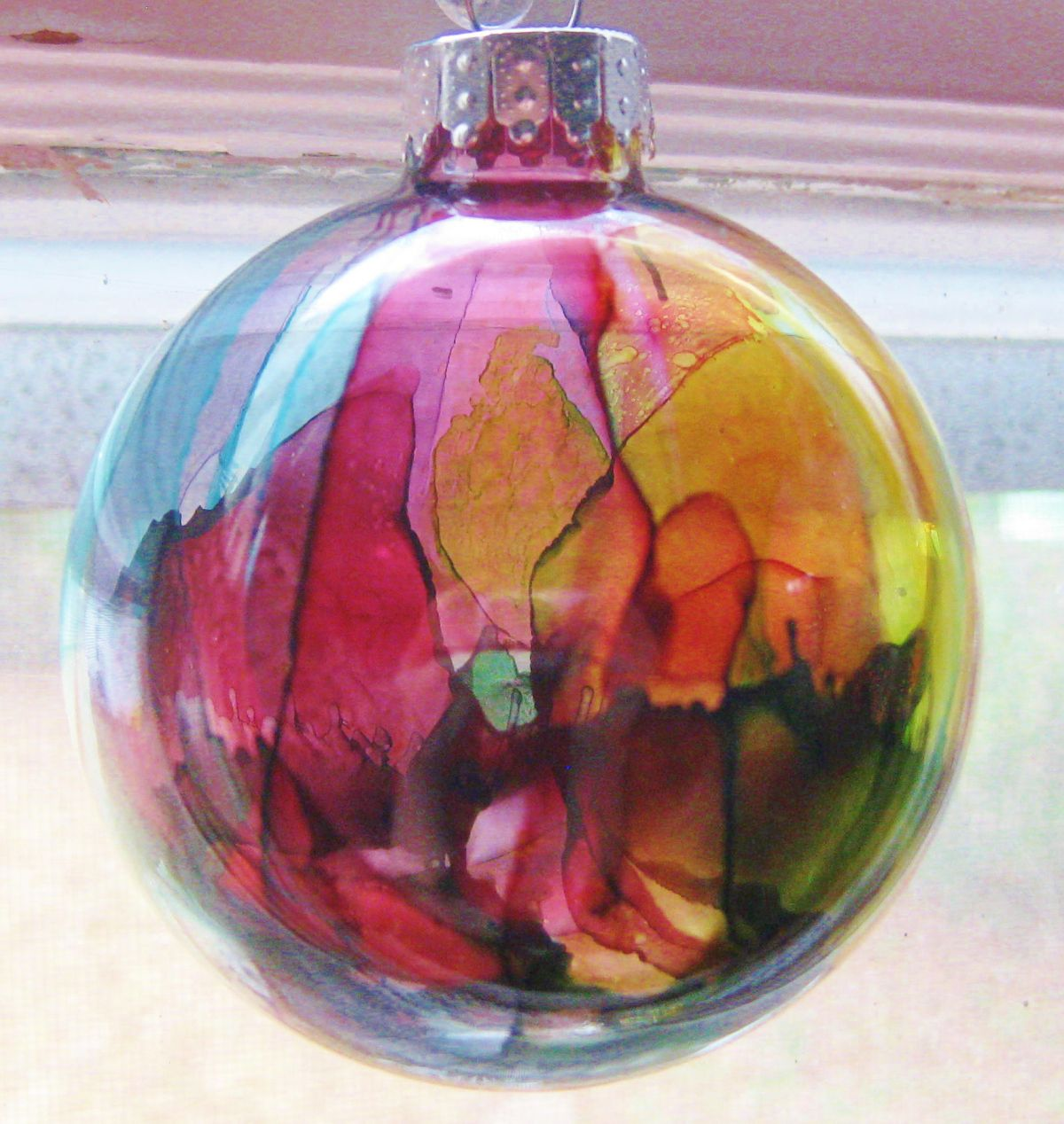 Alcohol Ink Ornament (2) #alcoholinkcrafts