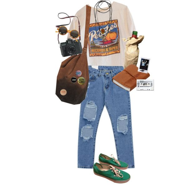 peaches succ by kampow on Polyvore featuring Chicnova Fashion, Vans, 1928…
