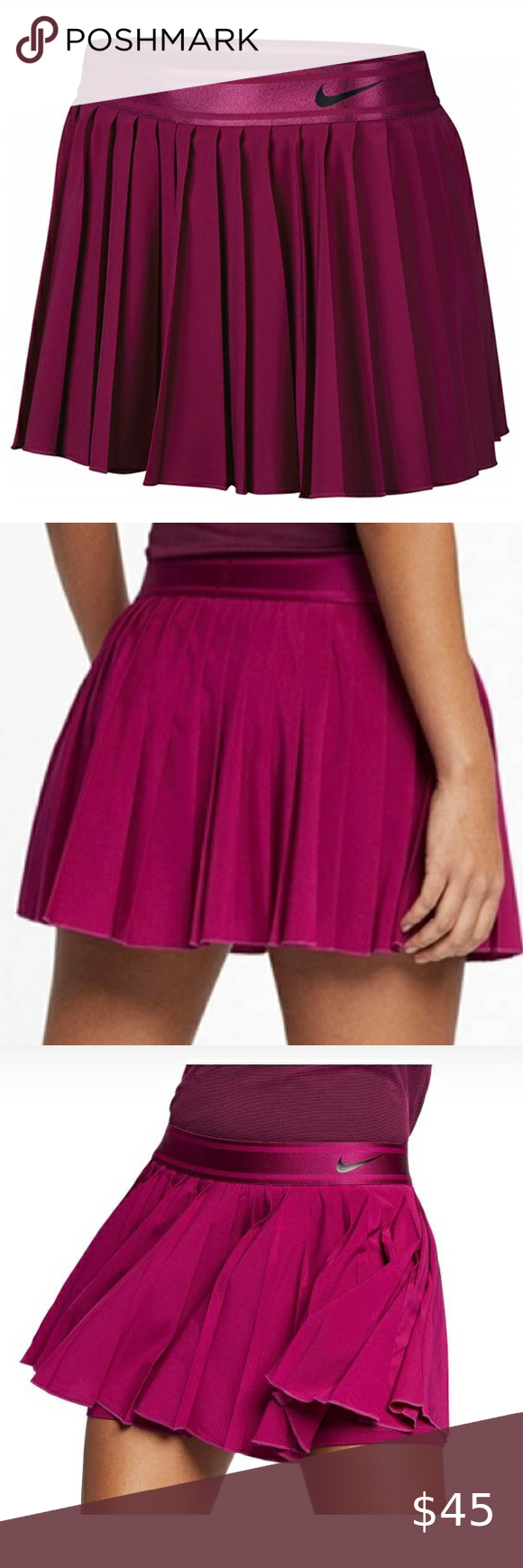 Nike Dri Fit Pleated Tennis Golf Skirt In 2020 Golf Skirts Pleated Tennis Skirt Tennis Skirt
