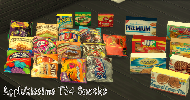 Applekissims Ts4 Snacks Yourdorkbrains Our Sims4 St