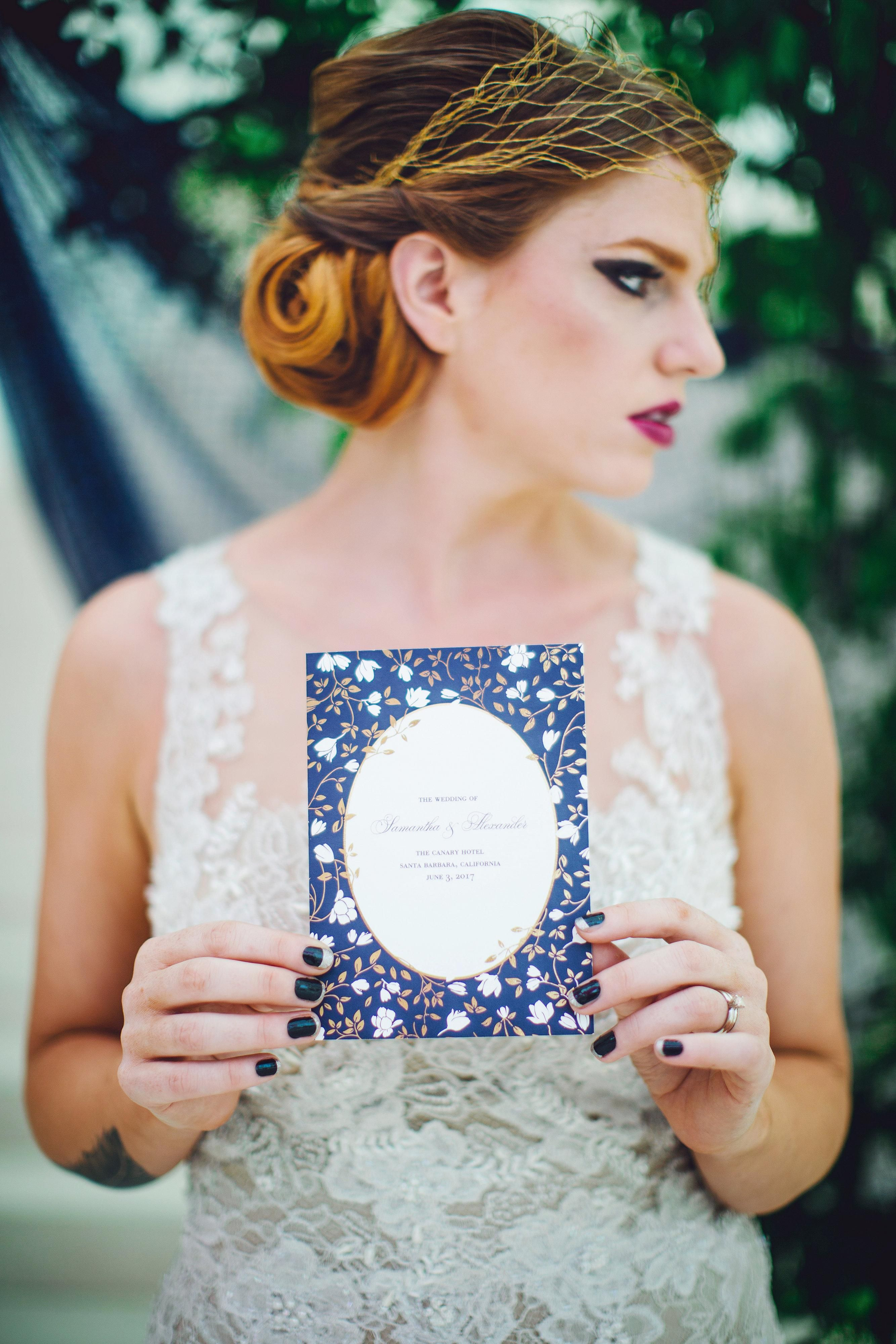 Do you love the idea of a vintage floral wedding? Customize your wedding invitations, save the dates, and all your bridal stationery essentials to fit your style, your way. Photo by @Izzy Hudgins Photography and Styling by @French Knot Studios.