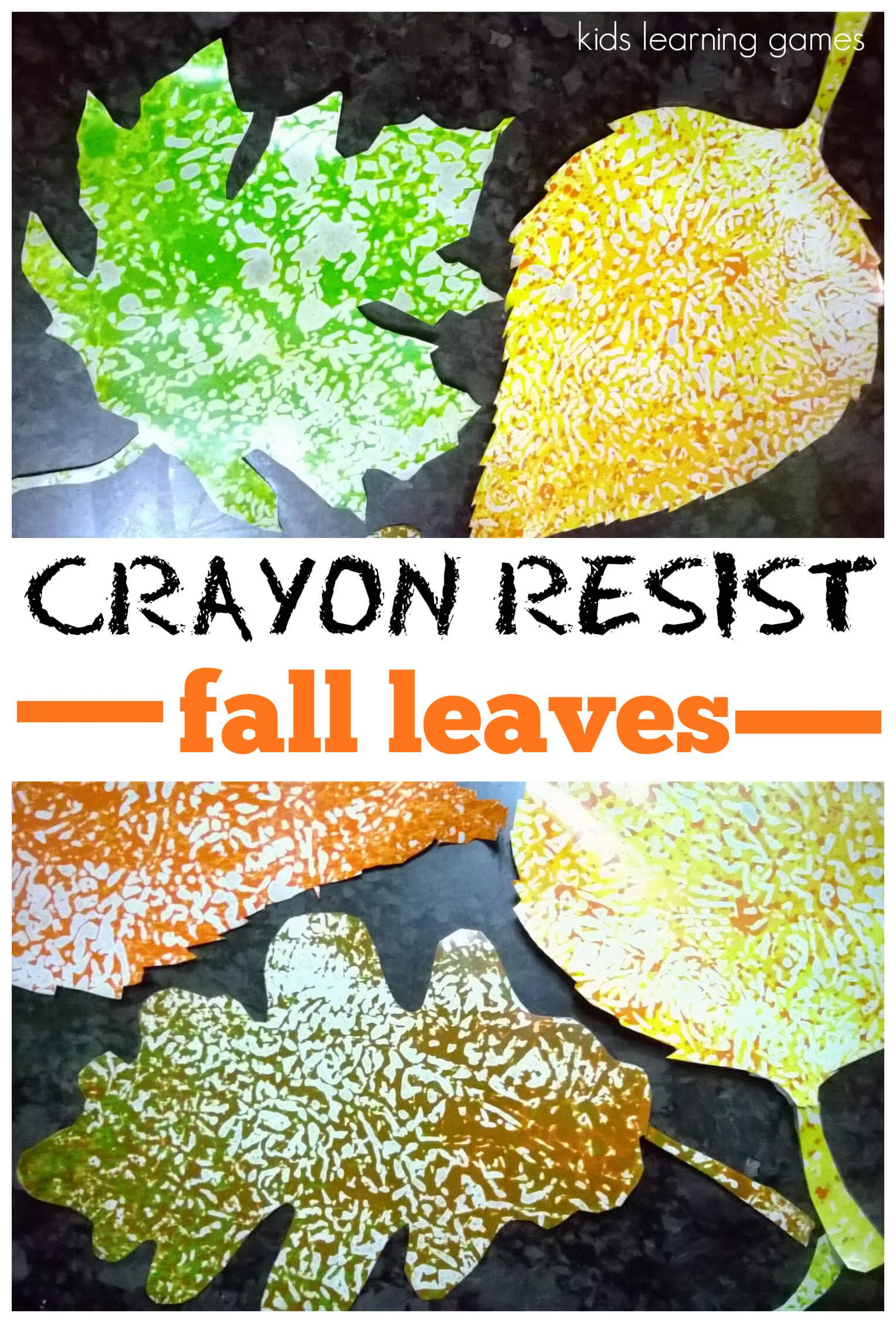Fall Craft For Kids Wax Paper Resist Leaves