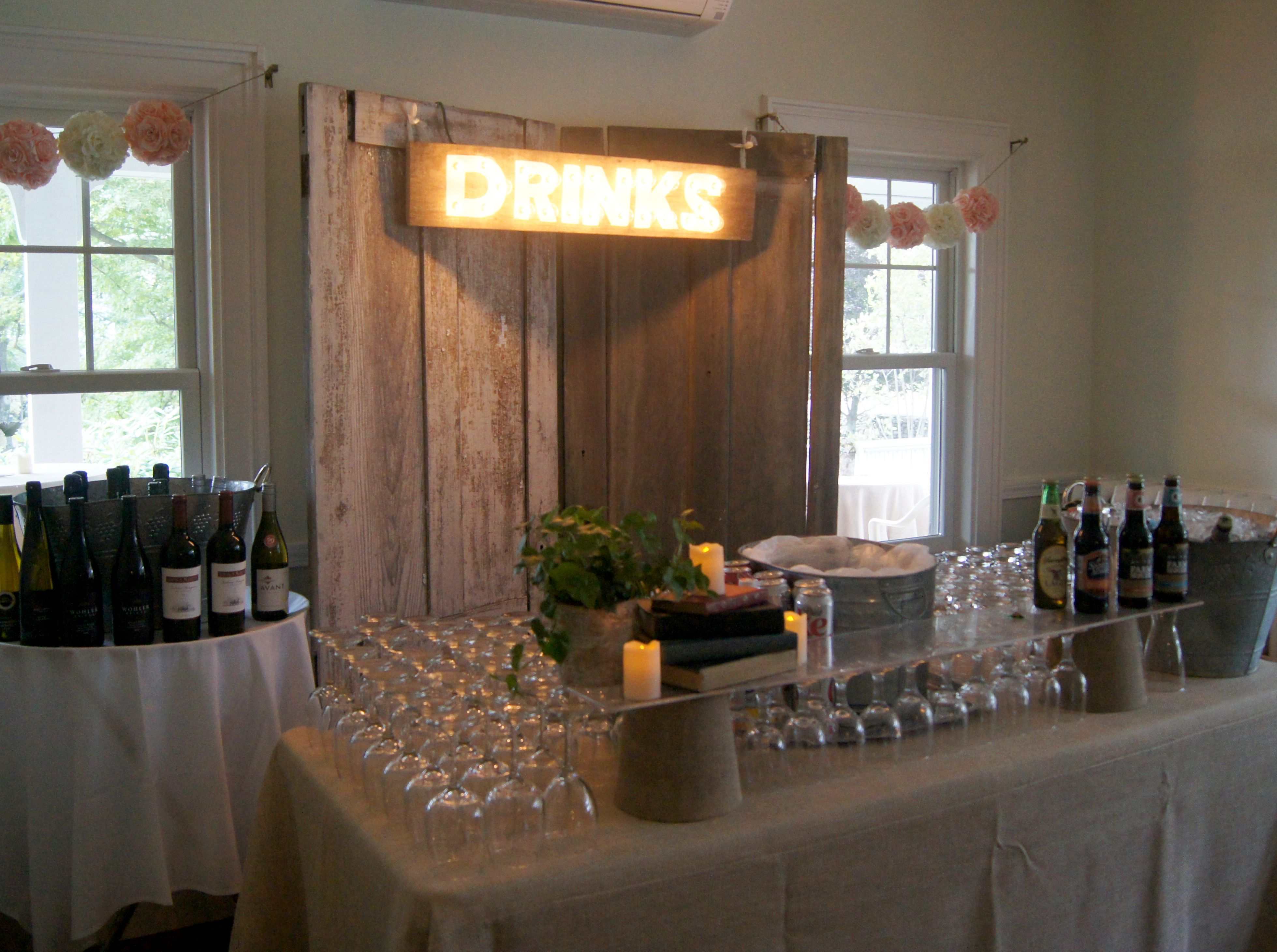 Rustic Vintage Wedding Decor Old Doors Custom Marquee Signs And Rustic Vintage Wedding Decor