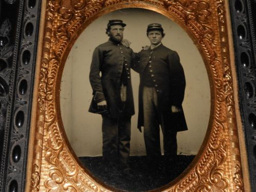 Civil War Soldiers 1 4 Plate Ambrotype Amp Thermoplastic Hanging Wall Frame Original Prints Image Civil War