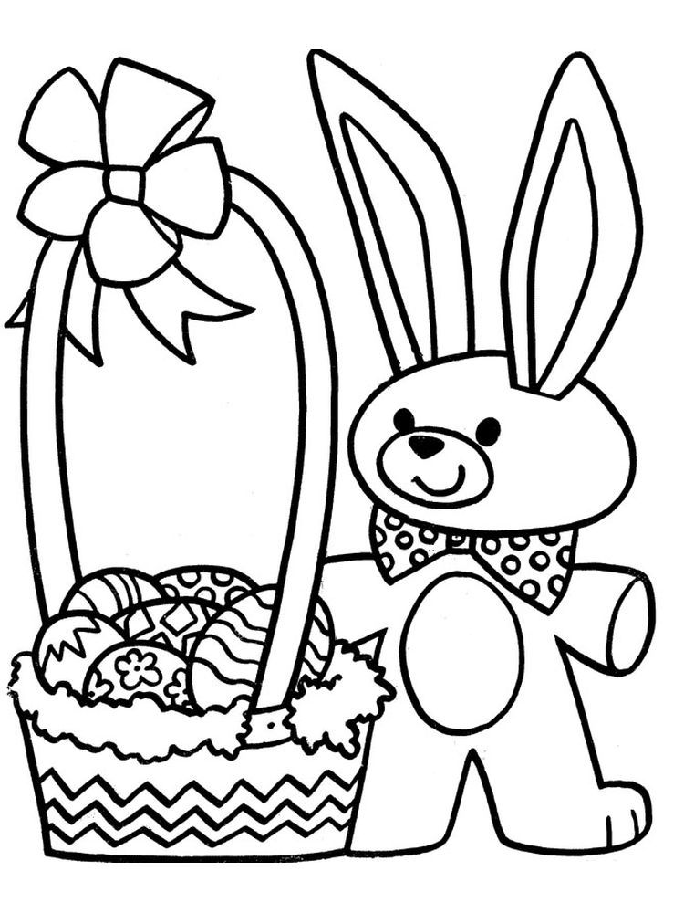 Large Easter Basket Coloring Page Easter Is A Fun Time For Children Easter Celebrat Bunny Coloring Pages Kids Printable Coloring Pages Easter Bunny Colouring