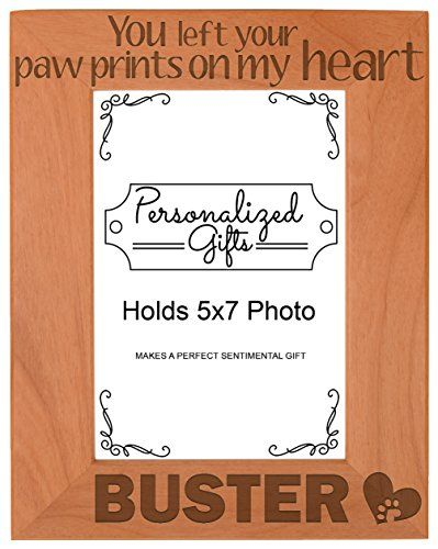 Personalized Pet Memorial Picture Frame You Left Your Pawprints On ...