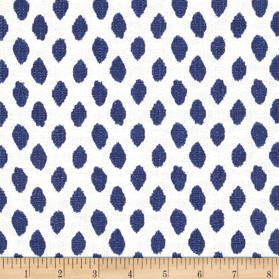 Lacefield Sahara Ikat Dots Midnight - Discount Designer Fabric ...