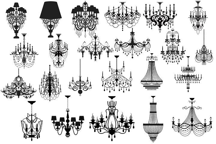 Chandelier silhouette clipart from designbundles silhouettes chandelier silhouette clipart from designbundles aloadofball Images