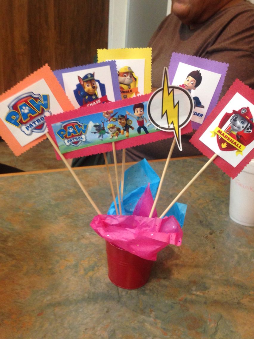 Incredible Diy Paw Patrol Birthday Party Twins Party Centerpiece Download Free Architecture Designs Scobabritishbridgeorg