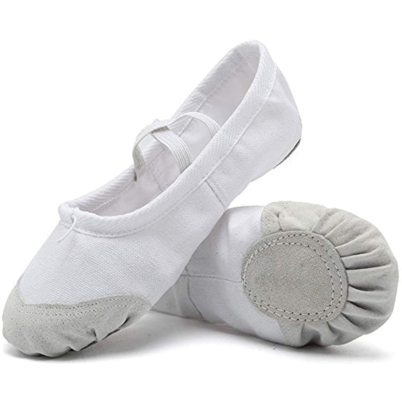 e054b99d6d0b CIOR Ballet Slippers For Girls Classic Split-Sole Canvas Dance Gymnastics  Yoga Shoes Flats(Toddler Little Kid Big Kid)