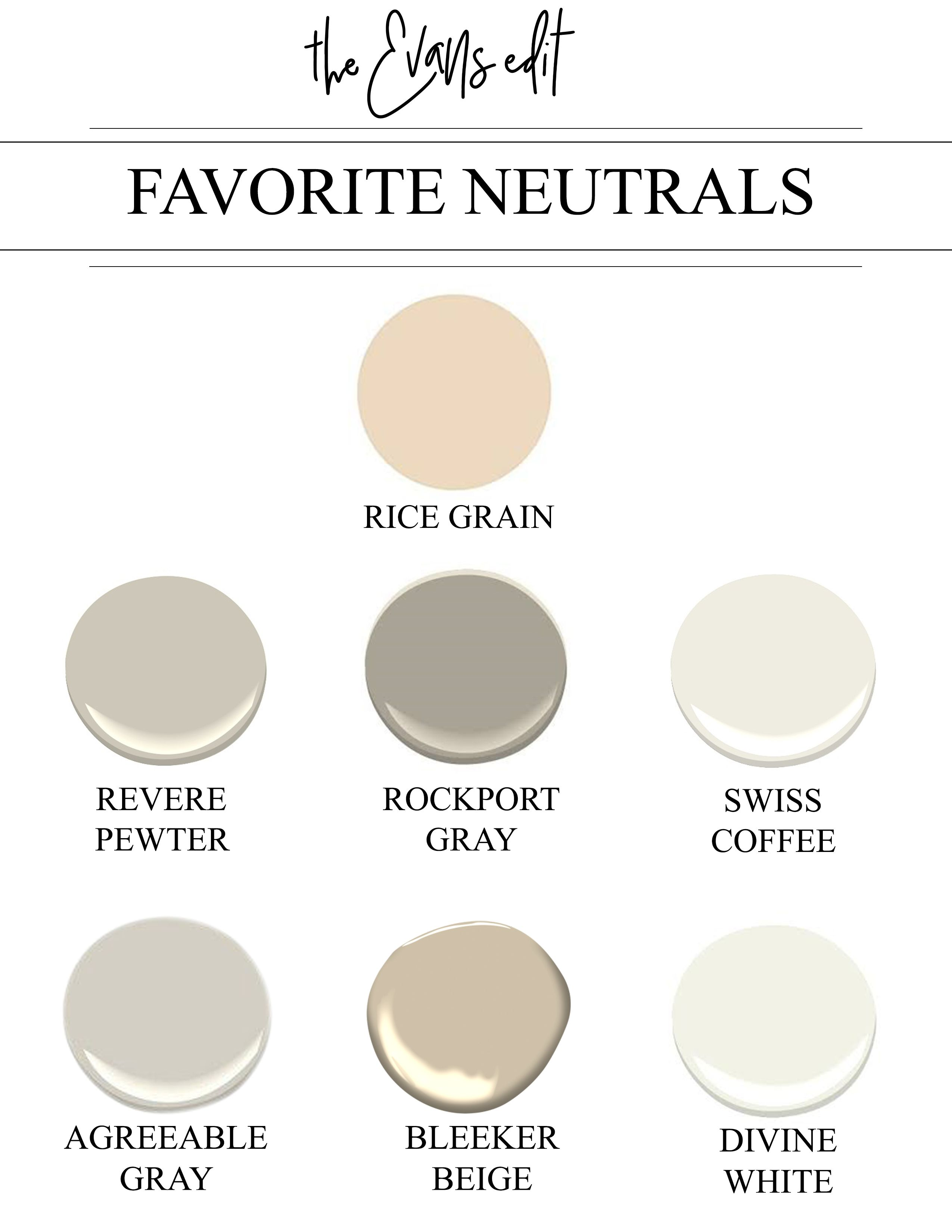 7 tried true neutral paint colors that work every single for Neutral grey paint colors