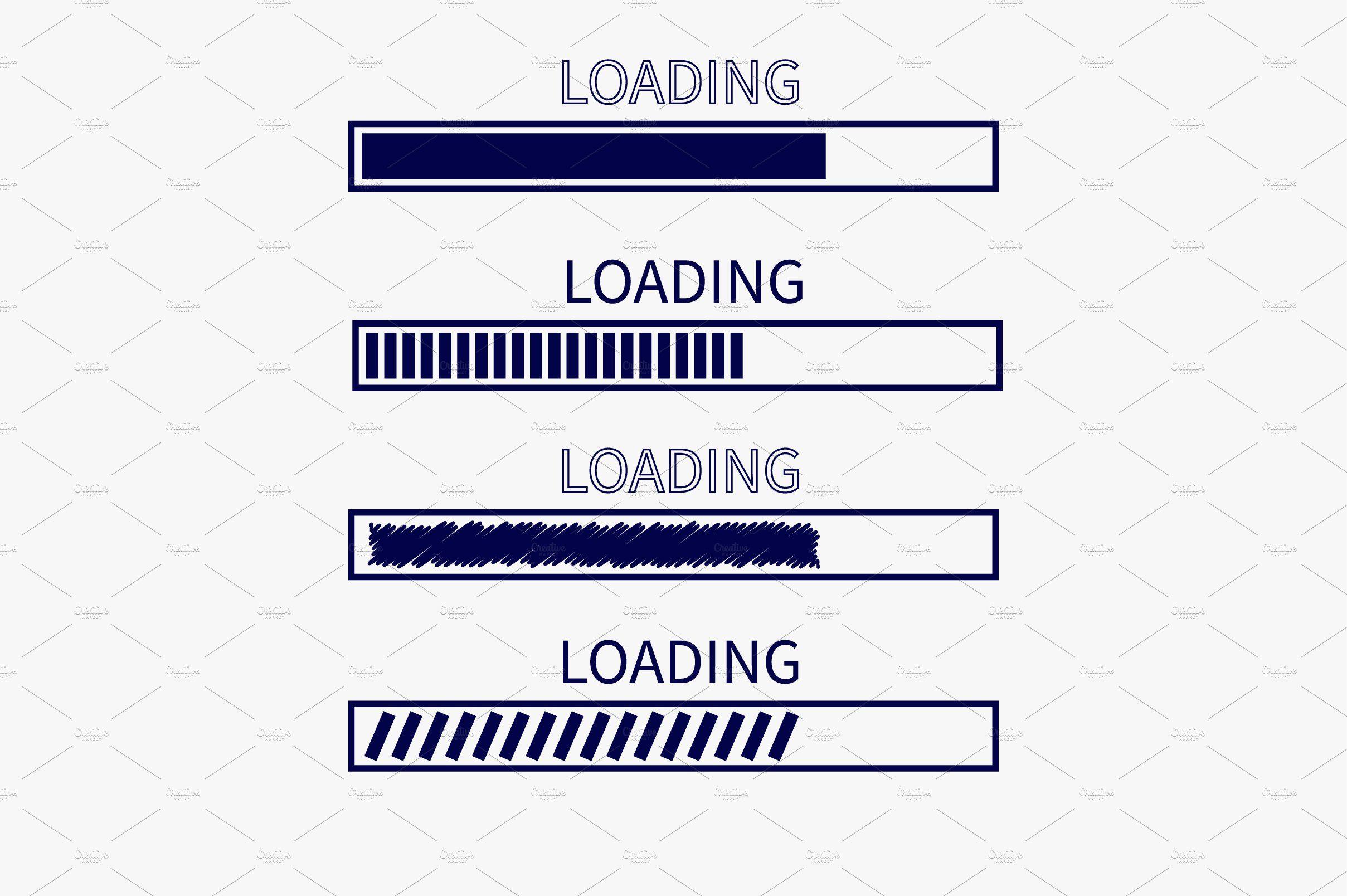 Loading Progress Bar Icon Set Icon Set Progress Bar Icon