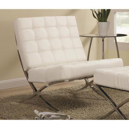 Pleasing Coaster Contemporary Waffle White Armless Leather Like Vinyl Inzonedesignstudio Interior Chair Design Inzonedesignstudiocom