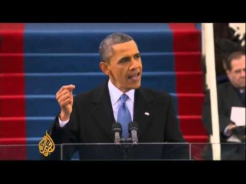 "Barack Obama, the president of the United States, has taken a public oath of office to begin his second term in office, a day after officially affirming the duties of president in a private White House ceremony.  Hundreds of thousands gathered at the National Mall in Washington DC on Monday to witness the president take an oath to ""protect and de..."