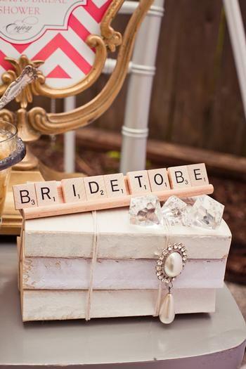 Vintage Modern Bridal Shower Decoration Ideas Scrabble Bride To Be