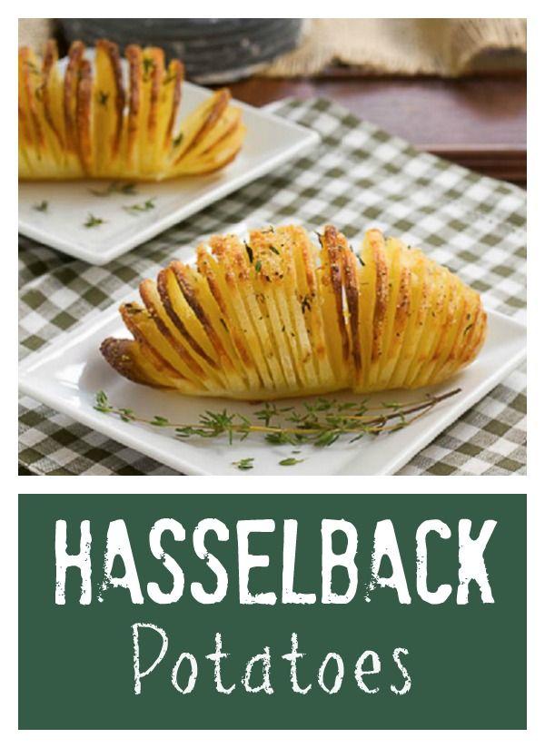 Hasselback Potatoes | Seasoned Fanned Potatoes that will delight your palate! #russetpotatorecipes