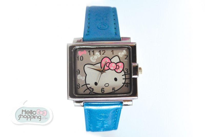 Hello Kitty Reloj Cuadrado Azul  $490.00